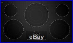 KitchenAid 36 Electric Cooktop 5 Radiant Elements Touch-Acti KECC667BBL