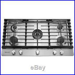 KitchenAid 36 gas cooktop KCGS556ESS stainless steel with 5 burners NEW in box