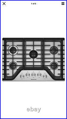 KitchenAid 36 in. Gas Cooktop in Stainless Steel with 5 Burners