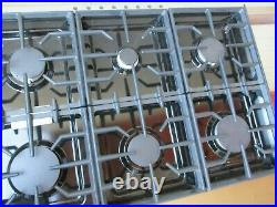 KitchenAid 48 Stainless Steel Commercial-Style Gas Cooktop 6 Burners KGCU483VSS
