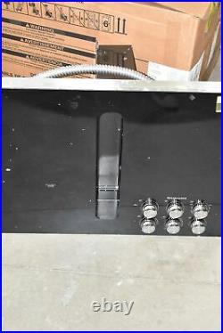 KitchenAid KCED606GBL 36 Black Downdraft 5 Element Electric Cooktop NOB #107836