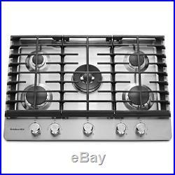 KitchenAid KCGS550ESS 30 Stainless 5-Burner Gas Cooktop NOB #45438 HRT
