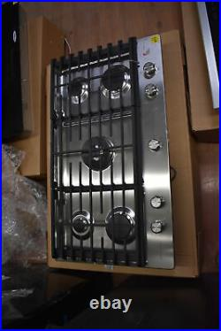 KitchenAid KCGS556ESS 36 Stainless Gas 5 Burner Cooktop NOB #35808 WLK