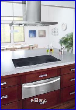 KitchenAid KECC667BSS 36 Electric Cooktop Touch-Activated Controls (Stainless)