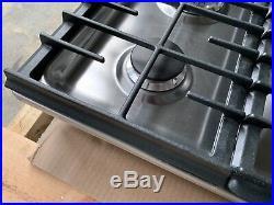 KitchenAid KFGS306VSS 30 Stainless Gas Cooktop 5 Burners NiB