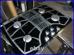 KitchenAid KGCD807Xss 30 Black 4-Burner Downdraft Cooktop