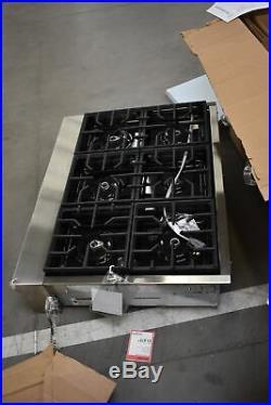 KitchenAid KGCU467VSS 36 Stainless Natural Gas Rangetop NOB #52749 HRT