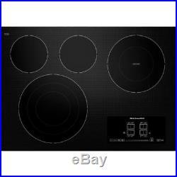 Kitchenaid 30 Architect Series II Black Electric Cooktop KECC607BBL