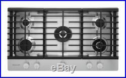 Kitchenaid KFGU766VSS Architect Series II 36 Gas Cooktop 5 Sealed Burners Stain