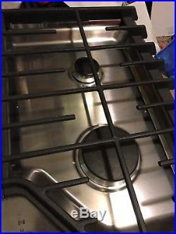 Kitchenaid Kcgs356ESS 36 5-Burner Gas Cooktop Stainless Steel Excellent Display
