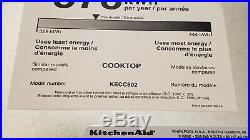 Kitchenaid Kitchen Aid Aide electric 30 stove stovetop Cooktop KECC502