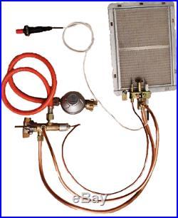 Komplett Brenngas Set Gashahn Zündbrenner Keramikbrenner Druckminder Gasleitung