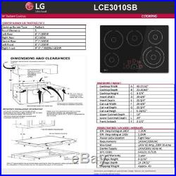 LG Electronics 30 in. Smooth Surface Electric Cooktop in Black with 5 Elements