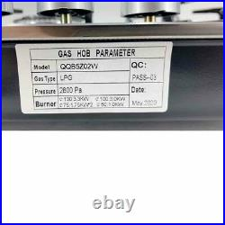 LPG/NG Gas Cooktop Natural Gas Propane Cooktops with 5 Burners 30Inch High Power