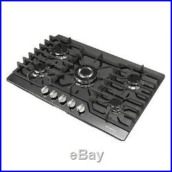 METAWELL 30 Black Titanium 5 Burner Built-in Stoves NG/LPG Cook tops Cooker