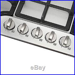 METAWELL 30 Stainless Steel 5 Burner Built-in Stoves Natural Gas+Hob Cooktops
