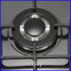 METAWELL 30 Titanium Steel 5 Burners Cooktops Built-In Stove LPG NG Gas Hob