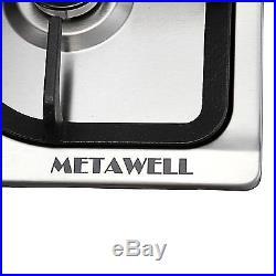 METAWELL 30inch Stainless Steel 5 Burner Natural Gas Cooktops US Seller