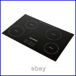 METAWELL 31.5in. Electric Induction Hob 4 Burners Touch Control Plate Cooktop
