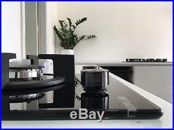 MILLAR GH3020PB 30cm Built-in 2 Burner Domino Gas on Glass Hob with FFD
