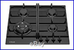 MILLAR GH6041TB 4 Burner Built-in Gas on Glass Hob 60cm Black