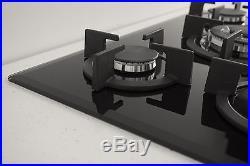 MILLAR GH7051PB 70cm 5 Burner Built-in Gas on Glass Hob 70cm
