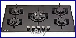 MILLAR GH9051PB 5 Burner Built-in Gas on Glass Hob 90cm