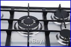 MILLAR SH7051S 5 Burner Built-in Stainless Steel Gas Hob 70cm with Wok Burner