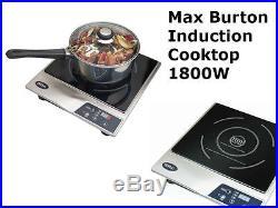 Max Burton 6200 Deluxe Induction COOKTOP, 1800 Watt Portable Electric STOVE