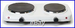 Maxi-Matic Dual Temperature Double Burner, EDB-302F, 1500-Watt Hot Plate, White