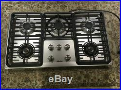 Miele KM3475 G Stainless Steel 36 in. Natural Gas Cooktop