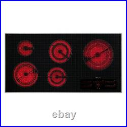 Miele KM5880 240V 42 Black Electric Cooktop with Maximum Width for the Cooking