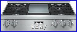 Miele KMR1136G 36 Inch Pro-Style Gas Rangetop 4 Sealed Burners Stainless Steel