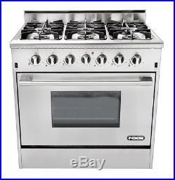NEW NXR DRGB3602 36 Professional Style Stainless Steel Gas Range Stove 6 Burner