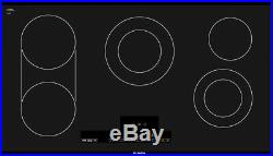 NIB Bosch 800 Series 36 Smoothtop Black 5 Zones Electric Cooktop NET8666UC