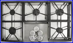 NIB Dacor Distinctive 36 56,000 BTU 5 Sealed Burners Gas SS Cooktop DTCT365GSNG