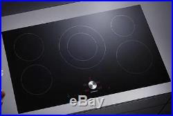 NIB GAGGENAU 36 Inch Twist-Pad 5 Cooking Zones Black Induction Cooktop CI491602