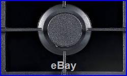 NJ Domino-302G Built-in Gas Hob 2 burners 30cm Black Glass Wok burner LPG/NG Kit