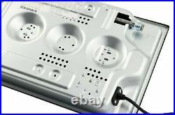 NJ Domino-302G Gaskochfeld Glas Gaskocher 2 flammig 5,2 KW Propan / Erdgas