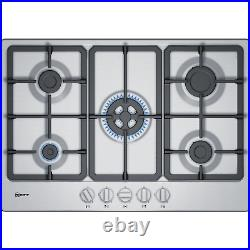 Neff T27BB59N0 N50 75cm Five Burner Gas Hob With Cast Iron Pan Stands Stainles