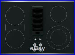 New! GE Profile PP9830SJSS 30 Electric 4 Burner Smoothtop Downdraft Cooktop