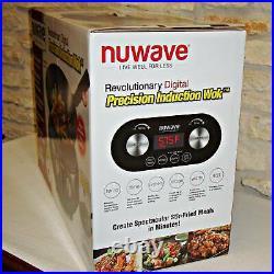 New Nuwave Precision Induction 4-quart Electric Wok Black