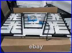 New Unboxed AEG HVB95450IB 90cm 5 Burner Gas On Glass Hob BLACK