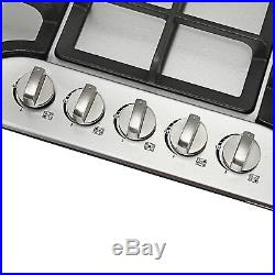 New Year-Seckill 30 Stainless Steel 5Burner Built-in NG/LPG Gas Cooktop Hob