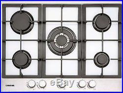 Nodor 3939 Kochfeld Gas/Einbau 70 cm breites mit Alu Profi NEU & OVP