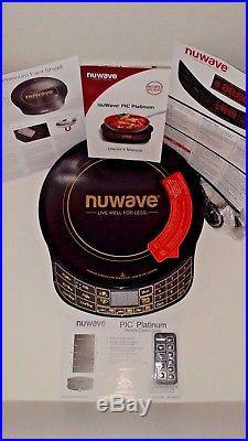 NuWave Platinum 30401 PIC Cooktop Black Remote Advanced Programmable Induction