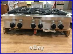 #OC0282 KGCU467VSS 36 KitchenAid 6-Burner Gas Rangetop Cooktop