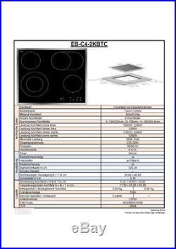 PKM EB-C4-2KBTC Ceranfeld Bräterzone Kochfeld Edelstahlrahmen Touch