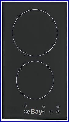 PKM EB-GK2-TC Glaskeramik Kochfeld Autark Doppelkochplatte Doppelkochfeld Felder