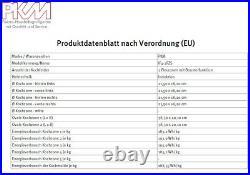 PKM Induktionskochfeld 60cm autark 2 Flexzonen Slider Timer Booster Bräterzone